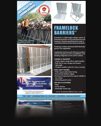 Download a copy of the Framelock Barrier Brochure. Click here on the link to the left